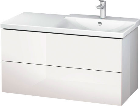P3 Comforts Håndvask til møbel asymmetrisk #233410 | Duravit